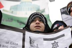 Ocupação de Anti-Israel da reunião de Gaza. imagem de stock