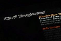 Ocupações - engenheiro civil 2 Imagem de Stock Royalty Free