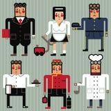 Ocupações hotel e restaurante ilustração royalty free