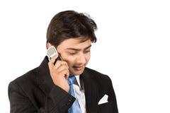 Ocupado en el teléfono celular Fotografía de archivo libre de regalías