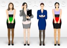 Ocupation дела Значки характера женщин показывают изменения офиса платья бесплатная иллюстрация