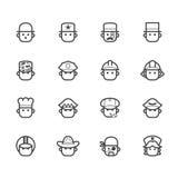 Ocupation czerni ikonę ustawia 1 na białym tle Zdjęcie Royalty Free