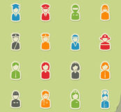 Ocupation simply icons Stock Photo