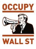 Ocupe al trabajador del americano de Wall Street Foto de archivo