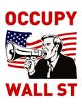 Ocupe al trabajador del americano de Wall Street Imagenes de archivo
