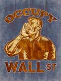 Ocupe al trabajador del americano de Wall Street Fotos de archivo