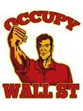 Ocupe al trabajador del americano de Wall Street Fotos de archivo libres de regalías