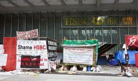 Ocupe el acampamento de Hong-Kong Imágenes de archivo libres de regalías