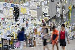 Ocupe el movimiento central, Hong Kong Foto de archivo