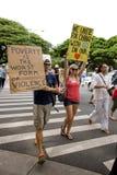 Ocupe Honolulu/anti-APEC Protest-51 Foto de archivo