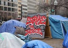 Ocupe la huelga de la C.C. para la justicia Imagen de archivo