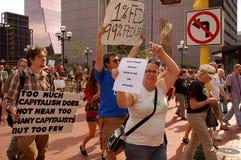 Ocupe la protesta de Wall Street Foto de archivo