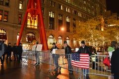 Ocupe la protesta de Wall Street Fotografía de archivo libre de regalías
