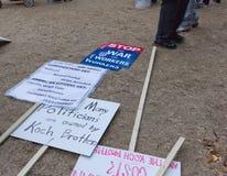Ocupe la protesta de Wall Street Fotos de archivo