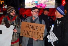 Ocupe la protesta de Wall Street en Times Square Foto de archivo libre de regalías