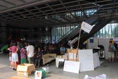 Ocupe las protestas separadas a Hong-Kong Imagen de archivo libre de regalías