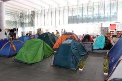 Ocupe las protestas separadas a Hong-Kong Imágenes de archivo libres de regalías