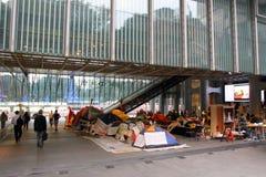 Ocupe las protestas separadas a Hong-Kong Foto de archivo