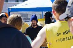 Ocupe a los manifestantes del LA en la Asamblea General Imagen de archivo libre de regalías