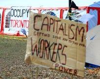 Ocupe a manifestação sentada de Toronto Fotografia de Stock
