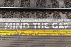 Ocupe-se do sinal de Gap Fotografia de Stock Royalty Free