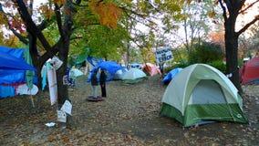 Ocupe Toronto en el parque de San Jaime Fotos de archivo