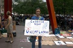 Ocupe Wall Street. Imagens de Stock