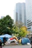 Ocupe Wall Street em Montreal (Quebeque Canadá) Imagem de Stock Royalty Free