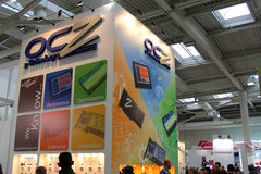OCZ技术立场在CEBIT计算机商展的 库存图片