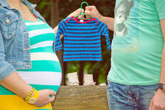 Oczekiwać dziecka zdjęcia royalty free