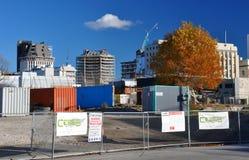 oczekuje budynków cbd Christchurch rozbiórkę Zdjęcia Stock