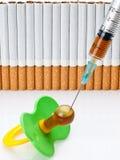 Oczkowanie nikotyna Zdjęcie Stock