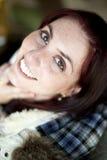 oczu dziewczyny zieleni ja target1717_0_ biały potomstwa Fotografia Royalty Free