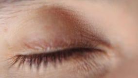 Oczu mrugnięcia Makro- zdjęcie wideo