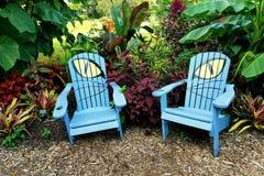 Oczu ogrodowi krzesła w Meadowlark ogródach, Reston, Virginia Obrazy Stock
