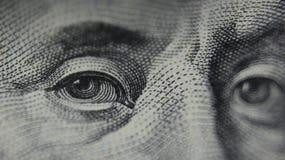 Oczy Benjamin Franklin Obrazy Stock
