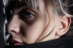 Oczy, cienie i moda fotografia royalty free