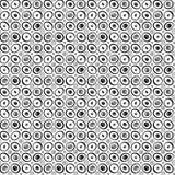 Oczy lub koralika bezszwowy deseniowy czarny i biały Zdjęcie Royalty Free
