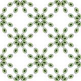 Oczy lub koralika wzoru bezszwowa zieleń Obraz Royalty Free