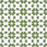 Oczy lub koralika wzoru bezszwowa zieleń Zdjęcia Stock