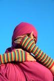 oczy niewidomych muzułmańskiej kobiety Obraz Stock