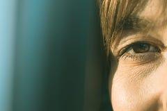 Oczy normalna dziewczyna zdjęcia royalty free