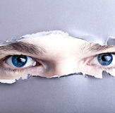 oczy robią otwór target1543_0_ Zdjęcie Stock