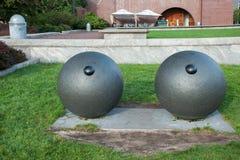 Oczy rzeźbią Louise Bourgeois, Bateryjny park, Miasto Nowy Jork zdjęcie stock