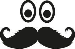 Oczy z scrubby wąsy royalty ilustracja
