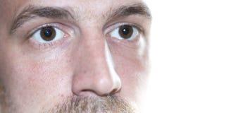 Oczy zamykają w górę twarzy Fotografia Stock
