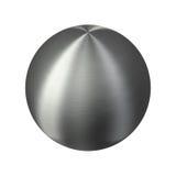 oczyszczonego metalu błyszcząca srebna sfera ilustracja wektor