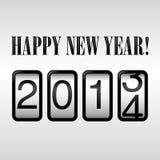 Odómetro 2014 de la Feliz Año Nuevo Imágenes de archivo libres de regalías