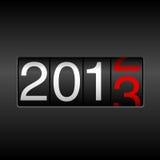 Odómetro del Año Nuevo 2013 Imágenes de archivo libres de regalías