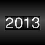 Odómetro del Año Nuevo 2013 Fotografía de archivo